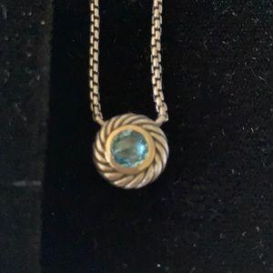 David Yurman 16 inch Blue Topaz Necklace